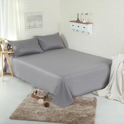 床单 纯色床单 全棉40支学生床单 13372面料 恩和家纺 230cmx250cm 深灰