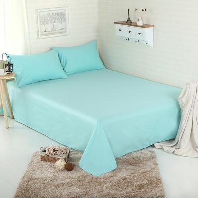 床单 纯色床单 全棉40支学生床单 13372面料 140cmx230cm 水蓝