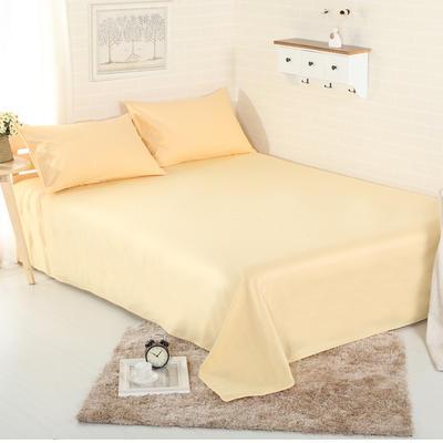 床单 纯色床单 全棉40支学生床单 13372面料 140cmx230cm 杏黄