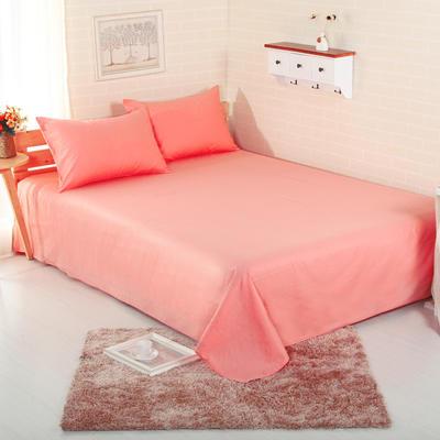 床单 纯色床单 全棉40支学生床单 13372面料 140cmx230cm 胭脂色