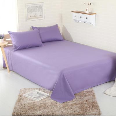 床单 纯色床单 全棉40支学生床单 13372面料 140cmx230cm 烟熏紫