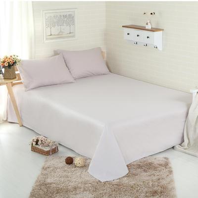 床单 纯色床单 全棉40支学生床单 13372面料 140cmx230cm 银灰