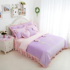 恩和家纺   爆款韩版短毛绒立体花朵系列 1.2m(4英尺)床 甜蜜公主紫粉