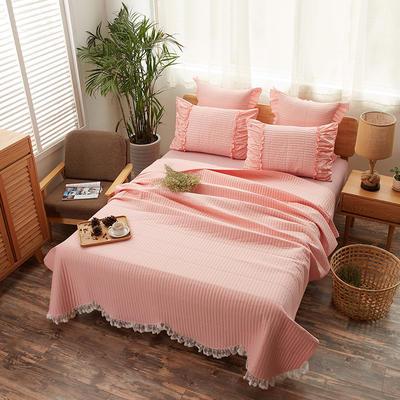 床盖 全棉绗缝床盖三件套 230*250单床盖 玉色