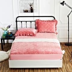恩和家纺水晶绒保暖床笠 120*200+25cm 豆沙