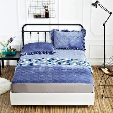 恩和家纺水晶绒保暖床笠