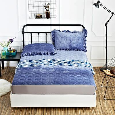恩和家纺水晶绒保暖床笠 180*200+30cm 蓝紫