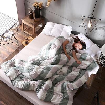 水洗棉时尚冬被系列 150*200cm 绿色格子