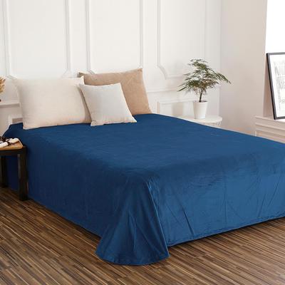 床单 水晶绒床单 保暖绒床单 0.9m-1.2m床140*235cm 宝蓝