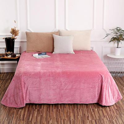 床单 水晶绒床单 保暖绒床单 0.9m-1.2m床140*235cm 豆沙