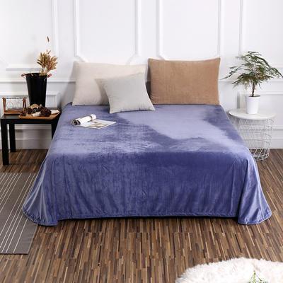 床单 水晶绒床单 保暖绒床单 0.9m-1.2m床140*235cm 蓝紫