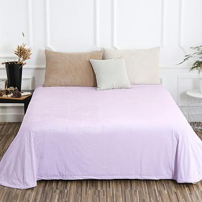 床单 水晶绒床单 保暖绒床单 0.9m-1.2m床140*235cm 浅米灰