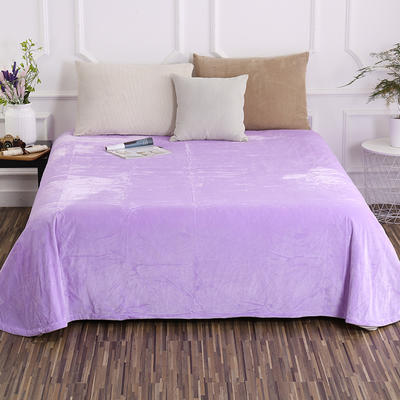 床单 水晶绒床单 保暖绒床单 0.9m-1.2m床140*235cm 浅紫