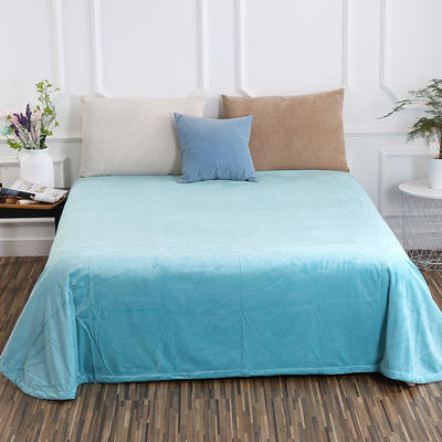 床单 水晶绒床单 保暖绒床单 0.9m-1.2m床140*235cm 水影蓝