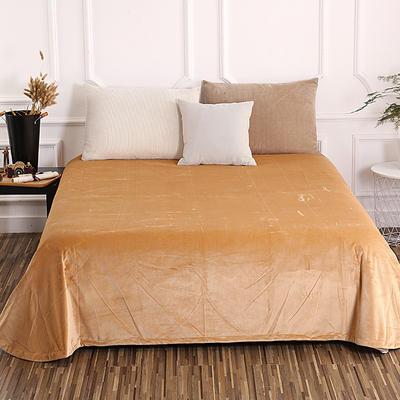 床单 水晶绒床单 保暖绒床单 0.9m-1.2m床140*235cm 驼色