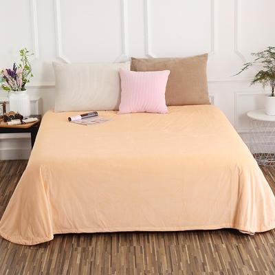 床单 水晶绒床单 保暖绒床单 0.9m-1.2m床140*235cm 杏色