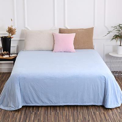 床单 水晶绒床单 保暖绒床单 0.9m-1.2m床140*235cm 烟波蓝