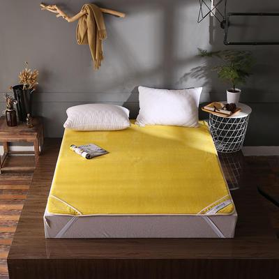 床垫 保暖床垫 法莱绒床垫子 120*200 cm 回忆黄