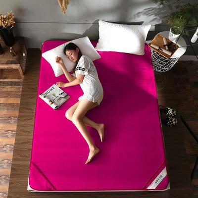 床垫 保暖床垫 法莱绒床垫子 120*200 cm 绛紫红