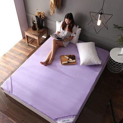 床垫 保暖床垫 法莱绒床垫子 120*200 cm 香芋紫