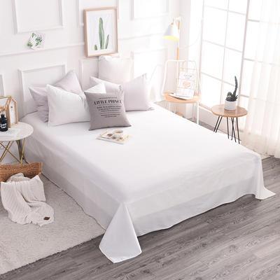 全棉13372纯色系列   床单 140*230cm(适合0.9-1.2米 白色