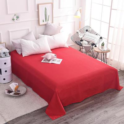 全棉13372纯色系列   床单 140*230cm(适合0.9-1.2米 大红