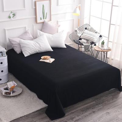 全棉13372纯色系列   床单 140*230cm(适合0.9-1.2米 黑色