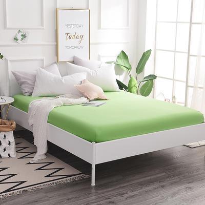 床笠 全棉床笠 床罩 纯色13372纯棉单品床笠 120*200+25 床笠高度25cm 果绿