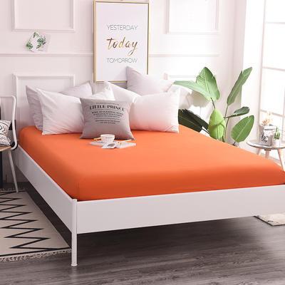 床笠 全棉床笠 床罩 纯色13372纯棉单品床笠 120*200+25 床笠高度25cm 橘色