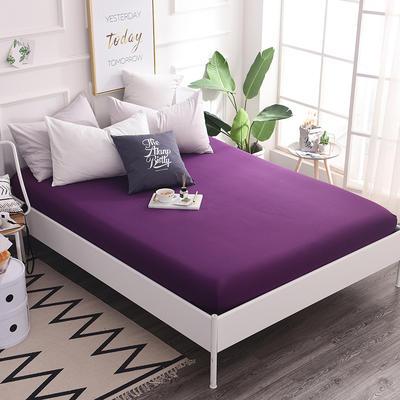床笠 全棉床笠 床罩 纯色13372纯棉单品床笠 120*200+25 床笠高度25cm 冷紫