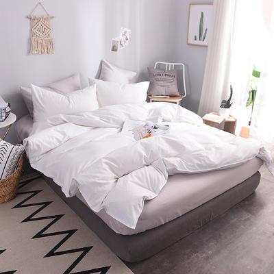 全棉13372纯色系列  纯色被套 155*205(适合150*200被芯) 白色