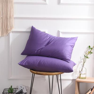 枕套 纯色枕套 全棉枕套 爆款网红学生枕套 13372面料  (一对装) 48cmX74cm 烟熏紫