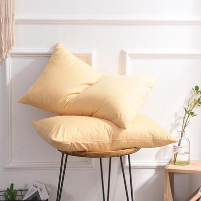 枕套 纯色枕套 全棉枕套 爆款网红学生枕套 13372面料  (一对装) 48cmX74cm 杏黄