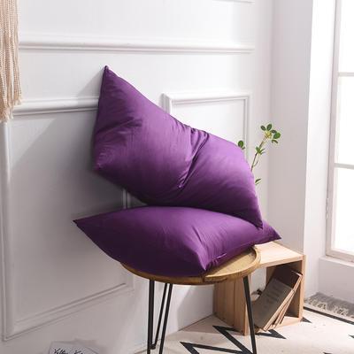 枕套 纯色枕套 全棉枕套 爆款网红学生枕套 13372面料  (一对装) 48cmX74cm 冷紫