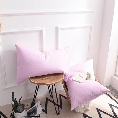 枕套 纯色枕套 全棉枕套 爆款网红学生枕套 13372面料  (一对装) 48cmX74cm 粉色
