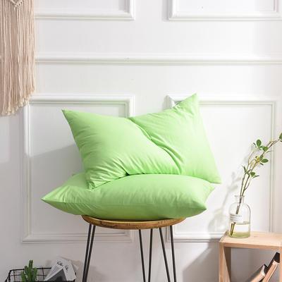 枕套 纯色枕套 全棉枕套 爆款网红学生枕套 13372面料  (一对装) 48cmX74cm 果绿