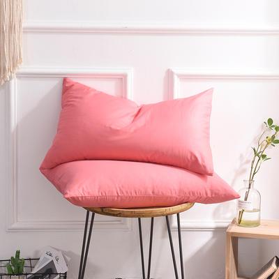 枕套 纯色枕套 全棉枕套 爆款网红学生枕套 13372面料  (一对装) 48cmX74cm 胭脂色