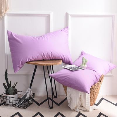 枕套 纯色枕套 全棉枕套 爆款网红学生枕套 13372面料  (一对装) 48cmX74cm 浅紫