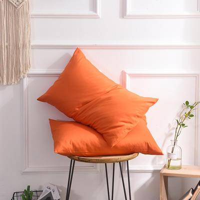 枕套 纯色枕套 全棉枕套 爆款网红学生枕套 13372面料  (一对装) 48cmX74cm 橘色