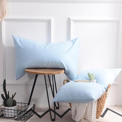 枕套 纯色枕套 全棉枕套 爆款网红学生枕套 13372面料  (一对装) 48cmX74cm 天蓝