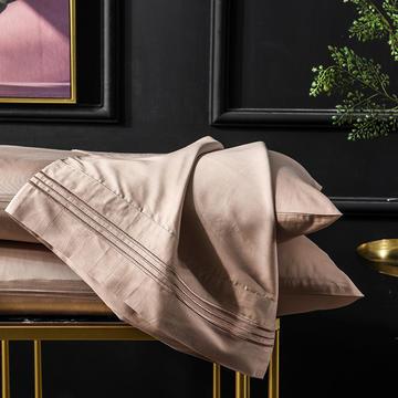 枕套 长绒棉枕套 60支贡缎枕套 学生刺绣枕头套 恩和家纺