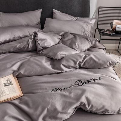 贡缎四件套 长绒棉四件套 床单款60支床上用品 1.2m小号 火山灰