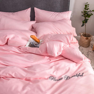 贡缎四件套 长绒棉四件套 床单款60支床上用品 1.2m小号 朦胧玉