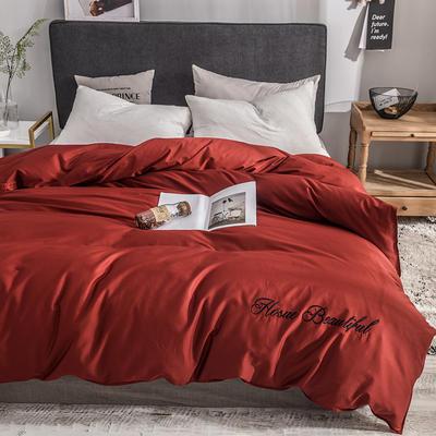 被套 长绒棉被套 贡缎60支单品被罩 150x200cm 岁月红