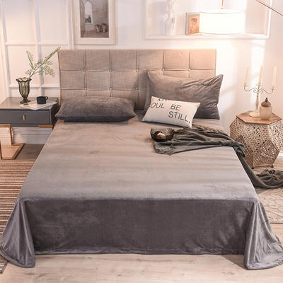 床單 水晶絨床單 保暖絨床單 2019 100*230cm 煙灰
