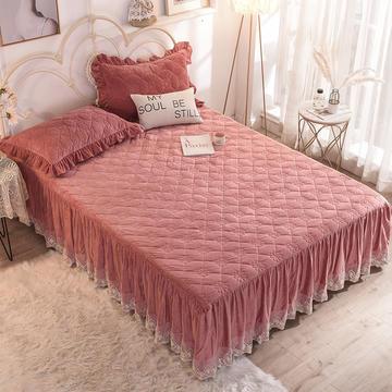 床裙 水晶绒床裙 夹棉保暖床裙 2019