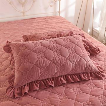 2020 夹棉枕套 保暖枕套 宝宝绒 恩和家纺