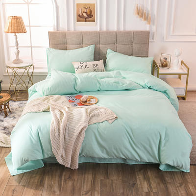 四件套 磨毛四件套 化纤磨毛套件 标准(床单款) 薄荷绿