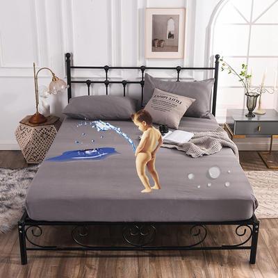 床笠 防水床笠 磨毛化纖防水床護罩 恩和家紡2019新品 同款枕套 防水床笠深灰