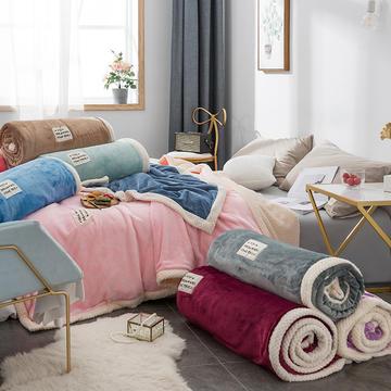 毛绒毯子 法兰绒毯 双层毛毯 保暖毯子 恩和家纺
